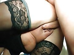 I am Pierced - weird granny with piercings riding cock