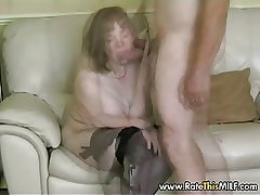 Rate My MILF - granny of age nearly stockings sucking cock