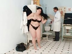 Big tits big mom Rosana gyno doctor examination