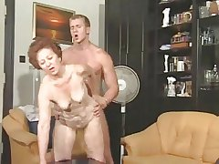 Granny Susanne Shacking up Younger Man
