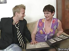 The brush hairy old cunt gets drilled by simulated dick