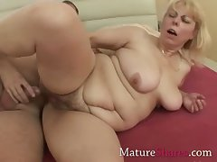 Tight adult pussy gets a drill from behind