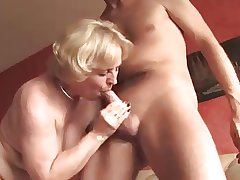 Amateur Granny Sucks Together with Takes A Hard Cock