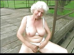 Granny Norma In sight with Big Toys added beside a Suck beside Swing