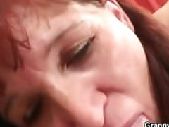 Granny coming gets pounded