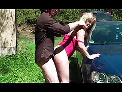 outdoor Granny conscientious car fuck