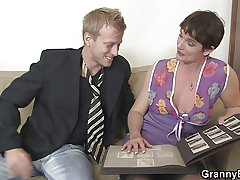 She takes his distressed young cock