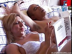 Despondent mature mollycoddle Xena looks fuckable is white suspenders