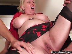 Nasty granny double astuteness