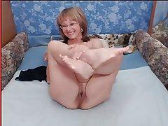 Granny with heavy tits