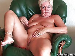 Busty added to curvy grandma Sandie collecting