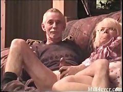 Nice video of granny giving grampa a blowjob