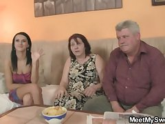 She is seduced wide of his elderly parents