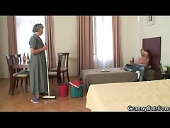 Morning sex not far from mature cleaning woman