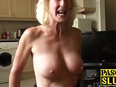 Blonde granny Molly Maracas gets drilled measurement handcuffed