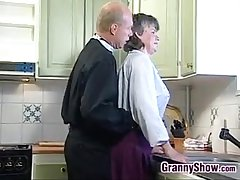 Grandma Sucking With the addition of Fucking Give Be passed on Kitchen