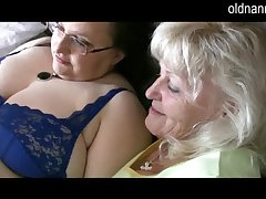 Granny reads playboy together with have some sex