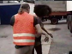 Ebony Hottie  Fucked By Trucker matured mature porn granny old cumshots cumshot