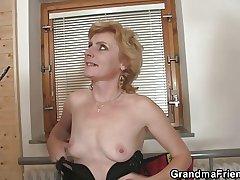 She enjoys fucking two cocks