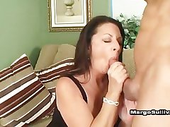 Cougar Margo smoking blowjob