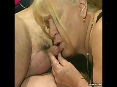 Two granny get fucked in foursome thing