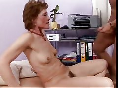 Granny gets rammed wits a young cock