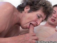 Horseshit hot to trot grandma loves anal sex