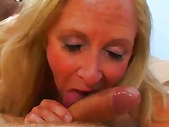 Light-complexioned Granny Loves Cum