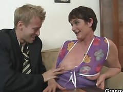 Their way hairy old cunt gets hammered by pretended cock