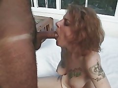 Tattoo Hairy Milf Suck and Fuck
