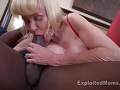Granny with huge jugs takes a pounding from frat kinsman