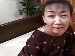 54yr ancient Perishable Japanese Granny cool-headed Craves Cum (Uncensored)