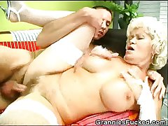 Granny Gets Fucked And Gets A Snack Of Jizz