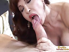 Be in charge hot grown up redhead handles cock like a pro