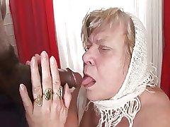 Obese Tit BBW Granny Takes Nefarious Meat