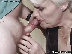 Aged granny nailed by hairy bloke