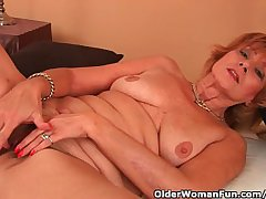 Chesty Grandma Gets Fucked In Her Lanose Pussy