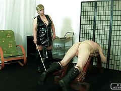 The Sadist Granny VI - exposure slapping, caning, inflaming