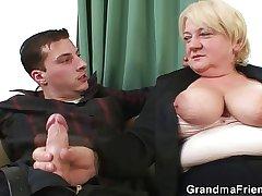 Boozed granny duplicate fucked