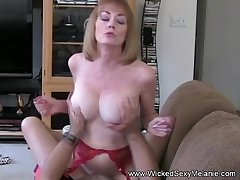 Mom Riding Son's Cock On high Someone's skin Couch