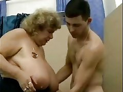 Fat tit German granny