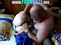 Old floosie granny having sex with hubby