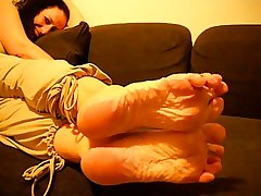 Grown-up French Woman Sexy Wrinkled Soles