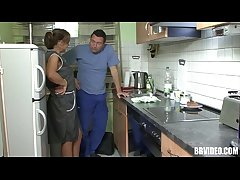 German mature whore dissolve locate in kitchenette