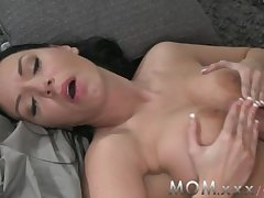 MOM Brunette with Chubby Tits get a Creampie