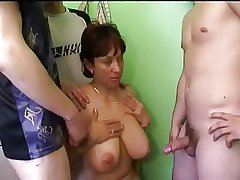 Russian full-grown ma increased by friends her son's! Amateur!