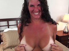 Texas MILF around big tits tan lines