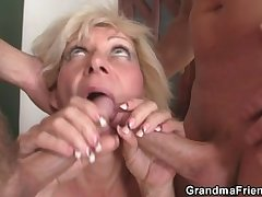 Two guys sink her old holes