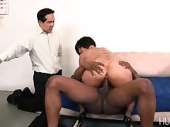 Cuckold hubby watches her in all directions big black load of shit