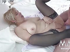 MMV FILMS German Mature Rides Cock